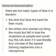 They way I see it, if it was the bassist blowing raspberries into a microphone, that would mean Larry's back in the band, and therefore, HECK YEA I WOULD BUY THAT. But anywhoo, this post is so very true.