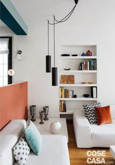 Mini Loft, Wall Shelves, Decoration, New Homes, Lights, Living Room, Architecture, Retro, House