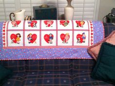 Valentine Quilt made by Beverly Parks with Pam Kitty fabric.
