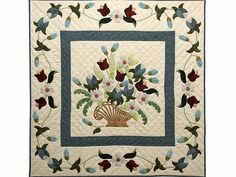Spring Basket Medley Quilt -- outstanding smartly made Amish Quilts from Lancaster (wh5751)