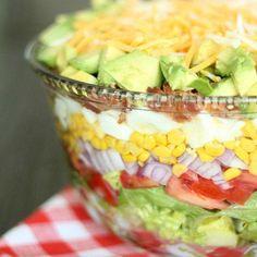 Layered Cobb Salad from SixSistersStuff.com