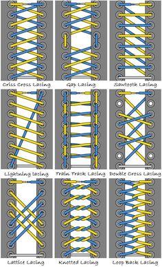 Die 45 Wege Sich Die Schnürsenkel Zu Binden Mode Lace Ways To