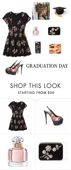 """""""Grad day# After party"""" by california-pink-nation ❤ liked on Polyvore featuring Hollister Co., Gianmarco Lorenzi, Guerlain, Kate Spade and Casetify"""
