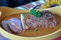 Make one of our very best comfort foods (and a blue ribbon winner!) with this Beer Onion Gravy Pork Roast recipe. Makes perfect fall and winter flavors. Pork Recipes For Dinner, Pork Roast Recipes, Onion Recipes, Ham Recipes, Pork Meals, Carrot Recipes, Seafood Recipes, Cooking Recipes, Boneless Pork Loin Roast