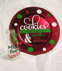 Cookies for Santa Plate Cookies & Milk for by TallahatchieDesigns