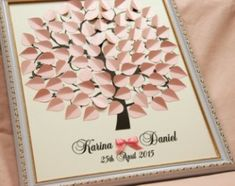 Wedding Guest Book Ideas Personalized Wedding tree Blush Ivory Light Pink tree New alternative to traditional guestbooks Wedding Guest Tree, Love Birds Wedding, Wedding Book, Purple Wedding, Wedding Blush, Wedding Welcome Bags, Wedding Wishes, Wedding Signs, Guest Book Tree