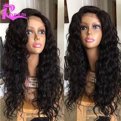 Water Wave Full Lace Human Hair Wigs For Black Women Brazilian Glueless Full Lace Wigs,Lace Front Human Hair Wigs With Baby Hair //Price: $135.34 & FREE Shipping //     #hairextension #style #beauty #woman #love