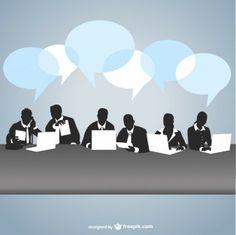 вектор деловая встреча искусство
