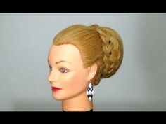 Вечерняя, свадебная прическа. Wedding prom hairstyle for long hair - YouTube