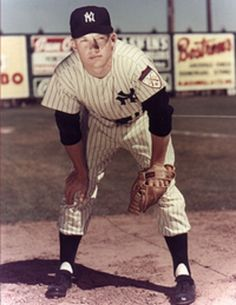 Mickey Mantle, New York Yankees; baseball players are hot, and I like this photo for some reason