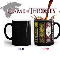 Game Of Thrones mugs a song of ice and fire coffee mug heat changing color Ceramic Tea Cup House Stark,Baratheon,Greyjoy,Martell  Game Of Thrones mugs a song of ice and fire coffee mug heat changing color Ceramic Tea Cup House Stark,Baratheon,Greyjoy,Martell  Game Of Thrones mugs a song of ice and fire coffee mug heat changing color Ceramic Tea Cup House Stark,Baratheon,Greyjoy,Martell Gifts For Friends, Gifts For Kids, Anime Coffee, Coffee Cups, Tea Cups, Coffee Milk, Game Of Thrones, Cup Games, Mugs