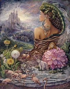 Blue Angel Publishing - Nature& Whispers Oracle Cards - Angela Hartfield - Illustrated by Josephine Wall Josephine Wall, Fantasy Kunst, Fantasy Art, Fantasy Paintings, Wall Paintings, Illustrations, Oracle Cards, Fairy Art, Fantasy World