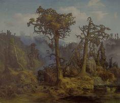 lars hertervig Painters, Trees, Artists, Cool Stuff, Kunst, Tree Structure, Wood, Artist