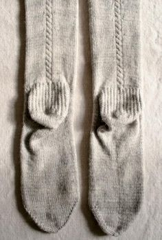 Cable socks by purlbee