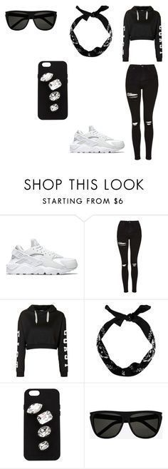 """""""Untitled #12"""" by lataya-brimm ❤ liked on Polyvore featuring beauty, NIKE, Topshop, STELLA McCARTNEY and Yves Saint Laurent"""