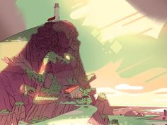 """Steven Universe Temple-This picture is from the iPhone app, """"Steven Universe-Attack the Light""""."""