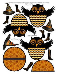 cute Halloween owls