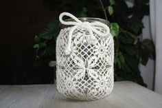 Great gift for crocheting lovers. Lanterns – Crocheted lantern – a unique product by ZoZulka via en.DaWanda.com