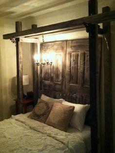47 ideas barn door headboard diy inspiration for 2019 Bedroom Diy, Rustic Master Bedroom, Bedroom Makeover, Barndoor Headboard, House, Diy Home Decor, Home, Home Bedroom, Remodel Bedroom