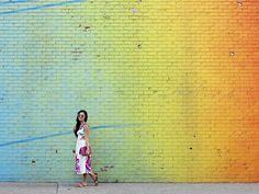 Rainbow Wall in DUMBO