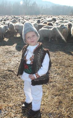 A Serbian boy, dressed in traditionel sheep herder outfit, has learned to enjoy the moment. May that childlike exuberance always fill our days. Visit Romania, Beautiful Costumes, Working People, Precious Children, Moldova, Serbian, Beautiful Images, Sheep, Traditional