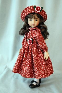 Fall Dress and Hat for 13 Inch Dianna Effner's by BabiesArtUs