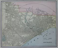 1901 Vintage CLEVELAND Map 1900s Vintage Collectible Map of CLEVELAND Ohio 3032