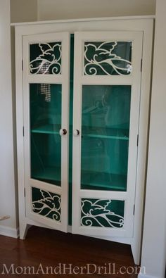 The Glass Bird Cabinet Takes Flight ~ Mom and Her Drill