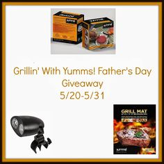 Enter to #win the Grillin' with Yumms! Father's Day #Giveaway - Ends 5/31 - Davids DIY