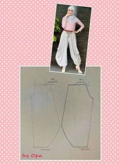 Ankle puff pants pattern - pattern making trousers