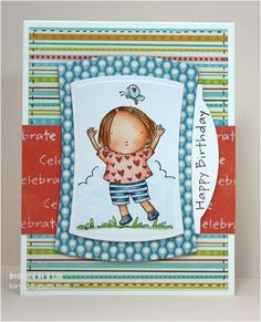 Here's another birthday card - using MFT Pure Innocence stamp set