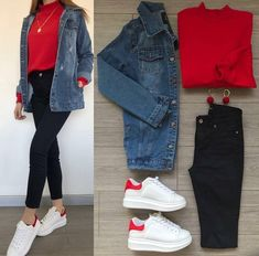 Laser Boyfriend Kot Ceket - So Tutorial and Ideas Girls Fashion Clothes, Winter Fashion Outfits, Cute Casual Outfits, Simple Outfits, Mode Grunge, Teenage Outfits, Mode Hijab, Western Outfits, Ideias Fashion