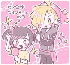 Gladion looks so cute in moon's hat! <33
