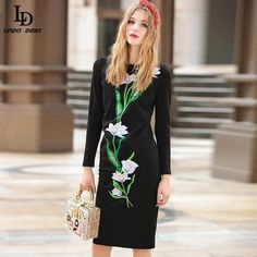 Autumn Women Long Sleeve Vinatage Embroidery Sequined Sexy Black Sheath Dress Vestido $77.21   => Save up to 60% and Free Shipping => Order Now! #fashion #woman #shop #diy  http://www.clothesdeals.net/product/ld-linda-della-runway-dress-autumn-new-women-long-sleeve-vinatage-embroidery-sequined-sexy-black-sheath-dress-vestido