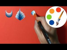 Two colors on the brush, How to load up the brush, irishkalia - YouTube