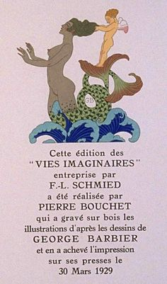 George Barbier:Vies Imaginaires Sing To Me, Songs To Sing, Love Songs, Book Illustration, Illustrations, Mermaid Hotel, Bottomless Girls, Goddess Of The Sea, Inspiration Art