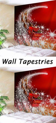 Christmas decor ideas:Wall Art Christmas Sled Tapestry