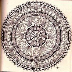 Zendala 047.  (Skillshare) Beginning Steps to Creating Beautiful Hand Drawn Mandalas Project.