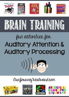 Does your child struggle with auditory attention? Find tons of fun and easy activity ideas to help improve the attention, processing speed and memory.