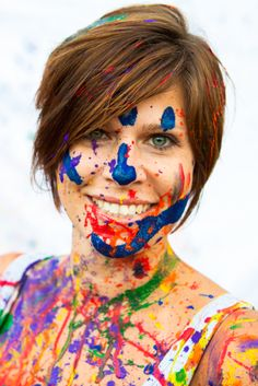 I want to be a model like Meg . . . In a paint war photo-shoot!!!