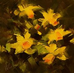 "Daily Paintworks - ""Field of Daffodils"" - Original Fine Art for Sale - © Rita Curtis Flower Art, Art Flowers, Painting Still Life, Fine Art Gallery, Daffodils, Painting Inspiration, Art For Sale, White Flowers, Abstract"