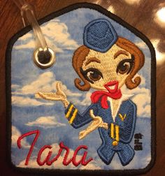 Flight attendant tag by Busyfingersboutique on Etsy