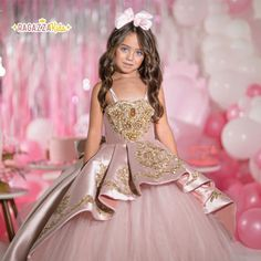 Little Girl Dresses, Girls Dresses, Prom Dresses, Glam Photoshoot, Young Girl Fashion, Quince Dresses, Kids Frocks, Quinceanera Dresses, Dress With Bow