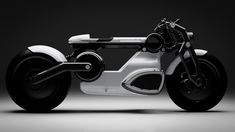 Electric Motorcycle maker Curtiss motorcycles are finally happy with its electric motorcycle design of Zeus prototype. They just unveiled two new models of its Zeus prototype: Cafe Racer and Bobber. Cb550 Cafe Racer, Cafe Racers, Bobber Motorcycle, Motorcycle Design, Steampunk Motorcycle, Motorcycle News, Blade Runner, Bobbers, Tron Bike