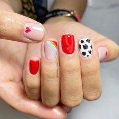 Cow Nails, Sculpted Nails, Dream Nails, Mani Pedi, Manicure Ideas, Nail Ideas, Nail Inspo, Pretty Nails, Hair And Nails
