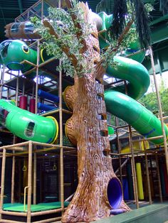 recreation center in Edina, MN. Tree tube climb.