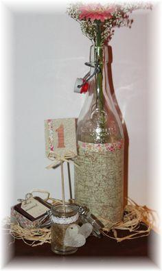 Centre de table ~ Décoration de table ~ Mariage, baptême, communion thème champêtre/liberty