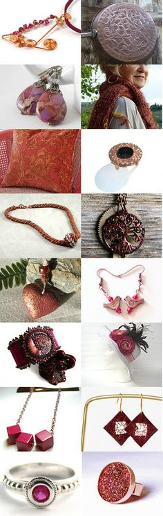 When Copper Met Magenta Pink by Carla on Etsy--Pinned with TreasuryPin.com