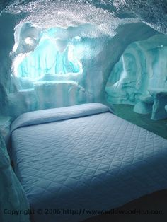 Wildwood Inn, KY.  I want to go to there SO much.  Their theme rooms are so stupid that I want to lock myself in there forever.  Arctic cave?  Yes plz.