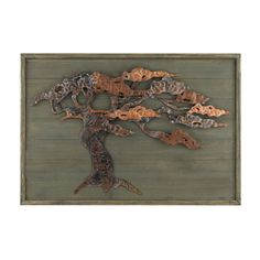 Weathered wooden boards display a metalwork tree in soft autumnal tones in this piece of wall art https://joyfulhomegoods.com/collections/wall-decor/products/sterling-industries-wood-metal-tree-wall-art-138-173?variant=20311586631 Free gift for our Pinterest fans! $5 gift card, use code PIN5 to redeem!